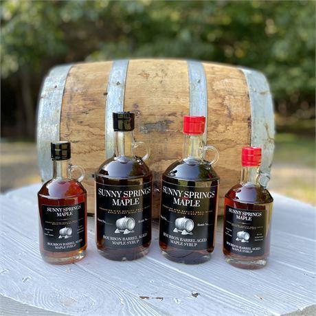 Sunny Springs Bourbon Barrel Aged Maple Syrup 750 ml bottle